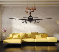 Wholesale 3d Wall Decor Paper - 4028 3D Airplane Wall Stickers Muraux Wall Decor Airplane Wall Art Decal Decoration Vinyl Stickers Removable Airplane Wallpaper