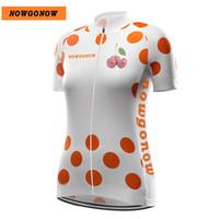 Women Customized NEW 2017 JIASHUO Nowgonow Dots Bike mtb road RACE Team  Funny Pro Cycling Jersey Shirts   Tops Clothing Breathing Air c77c2b4ec