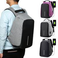 Wholesale Laptop Security - Waterproof School Bags College Teenage Laptop Backpack Men Travel Security USB Charge Anti Theft Backpack