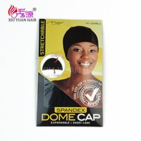 Wholesale Dome Wig Caps - Spandex Dome Cap With Very Good Elasticity For Caps Black Weave Cap For Making Wigs Spandex Net Elastic Dome Wig Cap