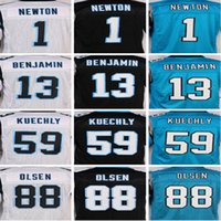 Wholesale Newton White - Best quality jersey,Men's 1 Cam Newton 13 Kelvin Benjamin 59 Luke Kuechly 88 Greg Olsen elite jersey,White,Blue,Black,Size 40-60