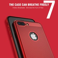 Wholesale Case For Hollow Breathable Breathable Cooling Mesh Hard Phone Cover For apple Hard Cover For iPhone Plus