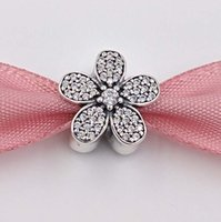 Wholesale pandora charms online - Authentic Sterling Silver Beads Dazzling Daisy Charm with crystal Fits European Pandora Style Jewelry Bracelets Necklace CZ