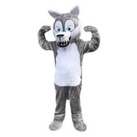 Wholesale Gray Wolf Costume - gray wolf Mascot Costumes Cartoon Character Adult Sz 100% Real Picture