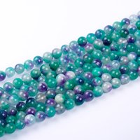 Wholesale Natural Purple Jasper Beads - 1pack lot AAA+ 10mm High quality purple green white Chalcedony Jasper Round Jade natural Stone Beads for DIY Bracelet Making
