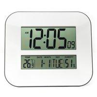 Wholesale Digital Hygrometer Clock - Big Number LCD Digital Wall Clock with Temperature Thermometer Humidity Hygrometer   Table Desktop Calendar Snooze Alarm Clock
