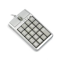 scrollrad usb optisch großhandel-2 in 1 iOne Scorpius N4 Optische Maus USB-Tastatur verkabelt 19 Numerische Tastatur Scrollrad für schnelle Dateneingabe USB-Tastaturmaus