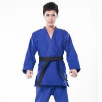 ropa wushu al por mayor-2016 100% Algodón Hombres Judo Jiu Jitsu Gi Grueso Conjunto Uniforme Ropa Ropa wushu Kung Fu kits Slub Telas Adultos Niños Niños