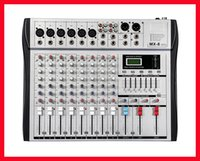 Wholesale Dj Audio Mixers - Wholesale- Professional Audio Mixer 8 Channels 7 Stereo Graphic EQ Mixing Console MX8 Mezcladora De DJ