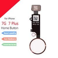 iphone 5g kurulu toptan satış-Iphone 7 için 7 artı Ev FLex Düğme Parmak Izi düğmesi Flex Kablo iphone 6 6 splus için yedek parçalar