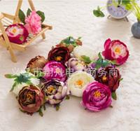 Wholesale Flower Arrangement Supplies - 300 pcs Dia 10cm Artificial Fabric Silk Peony Flower Head For Wedding Decoration Arch Flower Arrangement DIY Material Supplies
