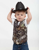 Wholesale Tuxedo Kids Custom Made - Baby Boys Camo Tuxedo Vests Kids Camouflage Formal Vest for Wedding Boy's Formal Wear Custom Made Size and Color