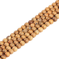 "Wholesale Wood Bark - High quality Wood bark natural stone round loose ball Beads 15"" Strand 6 8 10 12 MM DIY Jewelry Making bracelet"