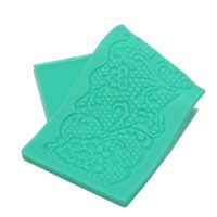 Wholesale Silicone Lace Mats - Wholesale- 3D Flower Lace Embossed Silicone Mould Fondant Cake Decoratiion Mat Kitxhen Baking Decorating Tool
