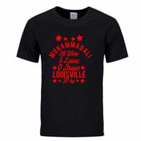 ali t shirt großhandel-MUHAMMAD ALI gedruckt Mode T-shirt ALLE 2020 neue Männer Kurzarm Hemd T-shirt Hombre Fighting Club Sommer Grafik T-shirt