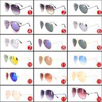 runde schwarze rahmen für gläser großhandel-Großhandel Marke Designer Sonnenbrillen für Frauen und Männer Billige Frau Metall Sonnenbrille Schwarz Runde Mann Mode Shades Heißer Verkauf Großen Rahmen