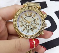 Wholesale New Style Fashion Dresses - luxury brand New popular fashion style women designer Dress diamond watches Ultra thin golden Rhinestones bracelet crystals ladies gifts