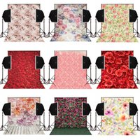 Wholesale Photography Background Wall Prop - 5x7FT bunch blossoms wall photo background for wedding camera fotografica digital cloth studio photos props vinyl photography backdrops
