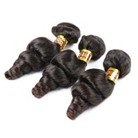 Wholesale Light Brown Remy Hair Weave - Dark Brown Brazilian Loose Wave Virgin Hair 3 Bundles Human Hair Extension Peruvian Malaysian Indian Cambodian Hair Weave Bundles