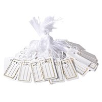 Argositment Sale-1000 Pack Jewelry Display Tie-on Étiquette de prix Gold White Jewelry String Étiquettes de prix Silver Jewelry Fournice # 10004