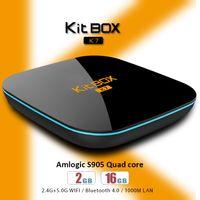 Wholesale Dual Lan - ROM 16GB RAM 2GB S905 Android 5.1 TV Box Kitbox Smart 4K 1000M LAN WIFI dual band Bluetooth KDMC 16.1 fully loaded