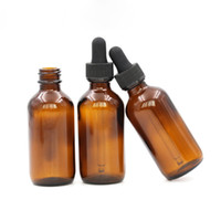 Wholesale Amber Glass Bottles 2oz - Most Popular Boston Round Amber Glass Dropper Bottles 60ml E Liquid Glass Bottle 2OZ With Childproof Cap And Rubber Stopper with Pipette