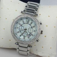 Wholesale 39 Mm Rhinestone - Luxury Famous Designer Women Rhinestone watches fashion luxury Brand Dress Michael ladies watch for Free Shipping