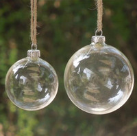 Wholesale 40Pcs Christmas Tree Glass Balls Ornament Christmas Decoration mm clear balls Xmas party supplies hanging Baubles Balls