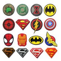 remendo mochila tático venda por atacado-Patches de super-heróis Mulher Maravilha Flash Spider Man Patch Moral Militar Emblema Tactical Braçadeira Patch para Jeans Mochila Jaquetas Cap