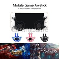 Wholesale Cell Phone Touch Screens Cheap - Hot Newest Cheap Mobile Joystick android ios Cell phone gamepad joystick Touch Screen Game Joypad Dual-stick Joysticks For Smartphone iPad