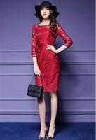 Wholesale Elegent Long Dresses - New elegent maid dress large size women slim sexy fashon long dress female embroidery dailydress frown