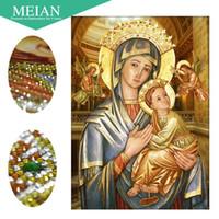 ingrosso punto croce signora-Meian, Special Shaped, Diamond Embroidery, Our Lady, Religious, 5D, Diamond Painting, Cross Stitch, 3D, Diamante Mosaico, Decorazione, Regalo