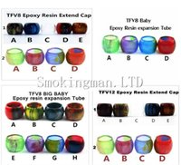 Wholesale Wholesale Acrylic Babies - 2017 Resin Replacement tube for SMOK TFV8 TFV8 Baby TFV8 Big Baby TFV12 tank acrylic Expansion tank Epoxy resin tube Drip Tip big Capacity