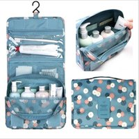 Wholesale Multi Layer Case - Multi-functional Waterproof Travel Bag Handmade Double layers ladies Cosmetic Sandwich Zipper bag for travelling Washing Bag Storage Bag206