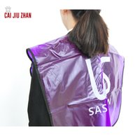 Wholesale Hair Salon Aprons - Hair Salon Adult Cutting Cape Transparent Waterproof Collapsible Adult Hairdressing aprons for Hair Care & Styling Tools