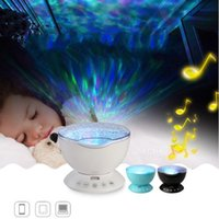 Wholesale Ocean Bedroom Lighting - Ocean Projection Lamp Remote Control Edition Hypnotic Sleep Light With Audio Starry Sky Colorful Waves Lamps Kids Bedroom Hot Sale 53cy D R