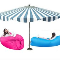 Wholesale Double Bedding Bag - Outdoor Inflatable Air Sleeping Bag Portable Sofa Hangout Lounger Air Boat Air Lazy Sofa Inflate Camping Beach Sleeping Bed 9 Colors OOA1408