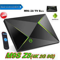 Z8 M9S Android Smart TV BOX Amlogic 2G + 8G 4K Streaming Media Player Completamente caricato add-on 2.4G + 5G BT4.0 lettori multimediali video VS T95Z PLUS H96