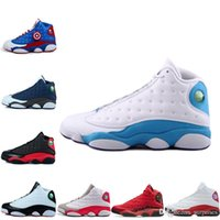 Wholesale Army Navy Game - 2016 new air retro 13 Doernbecher mens Basketball Shoes Bred Navy Game hologram grey toe Flint sport shoes Grey Low Hornets mens Sneaker