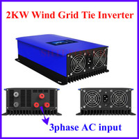 Wholesale Wind Mppt - MPPT 2000W Wind Power Grid Tie Inverter with Dump Load Controller Resistor for 3 Phase 45-90v wind turbine generator