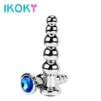 Wholesale heavy steel butt plug - IKOKY Butt Plug Heavy Anus Beads Sex Toys for Men and Women Gay Stainless Steel Prostate Massage Metal Anal Plugs q170718