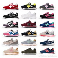 Wholesale Hot Girl Point - Hot Couples sneakers Fashion Boys and Girls Casual Shoes N Letter Lace-up Sport Shoes Comfort Sneakers Running Shoes Eur 35-44