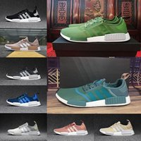 Flat blue and silver table runner - 2017 NMD Runner R1 Mesh Salmon Talc Cream Olive Triple Black Women Running Shoes Sneaker NMD Ultra Boost Runner Primeknit Shoes eur36