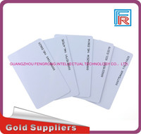 Wholesale Rfid Chips - Low price wholesale 500pcs 125khz RFID PVC blank white card with TK4100 chip Compitable EM4100 for access control