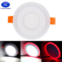 Wholesale Acryl Colors - 2016 newest led rgb downlights recessed ceiling lights 6w 9w 18w 24w led down lights rgb+white colors ac 85-265v