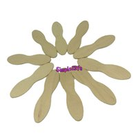 Wholesale Candy Scoops Wholesale - Free shipping 100Pcs Wooden Ice Cream Spoon Material Batten Round shape dessert spoon Food grade candy Short tableware
