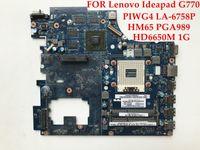 Wholesale Radeon 1gb - High quality laptop motherboard for Lenovo Ideapad G770 17'' PIWG4 LA-6758P HM65 PGA989 Radeon HD6650M 1GB 100% Fully tested