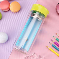 Wholesale Love Couple Cups - Couples Glass Micro Hot Cup Double Glass Water Bottle Double-layer Coffee Tea Glass Water Bottle with Stainless Steel Filter 300ml