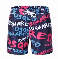 Wholesale Top Quality Velour - 2017 Hot Sale Wholesale Summer Best D S Q Short Beach Pants Men Pants Tops Brand Short Pants Top Quality Clothes White Pink Blue two colors
