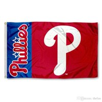 Wholesale Philadelphia Phillies Flag Baseball Team Flag Party Decoration Red Blue Advertisement Flags Banners Win Champion Banner Hot Sale Banners